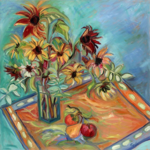 Sunflowers & Fruit Still-Life